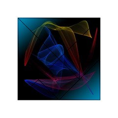 Lines Rays Background Light Pattern Acrylic Tangram Puzzle (4  x 4 )