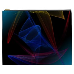 Lines Rays Background Light Pattern Cosmetic Bag (XXXL)