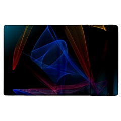 Lines Rays Background Light Pattern Apple iPad 3/4 Flip Case