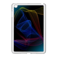 Lines Rays Background Light Pattern Apple iPad Mini Case (White)