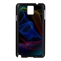 Lines Rays Background Light Pattern Samsung Galaxy Note 3 N9005 Case (Black)