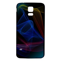 Lines Rays Background Light Pattern Samsung Galaxy S5 Back Case (white)