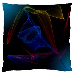 Lines Rays Background Light Pattern Large Flano Cushion Case (two Sides)