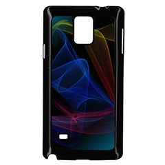 Lines Rays Background Light Pattern Samsung Galaxy Note 4 Case (Black)