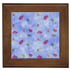 Ladybug Blue Nature Framed Tiles