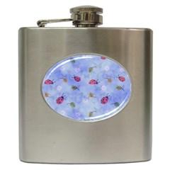 Ladybug Blue Nature Hip Flask (6 Oz)
