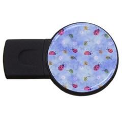 Ladybug Blue Nature USB Flash Drive Round (1 GB)