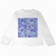 Ladybug Blue Nature Kids Long Sleeve T-Shirts