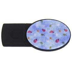 Ladybug Blue Nature USB Flash Drive Oval (4 GB)