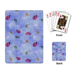 Ladybug Blue Nature Playing Card