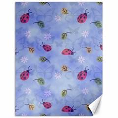 Ladybug Blue Nature Canvas 18  x 24