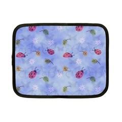 Ladybug Blue Nature Netbook Case (Small)