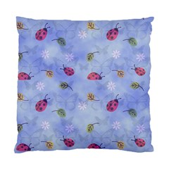 Ladybug Blue Nature Standard Cushion Case (One Side)