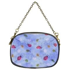 Ladybug Blue Nature Chain Purses (two Sides)