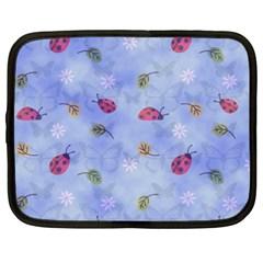Ladybug Blue Nature Netbook Case (XXL)
