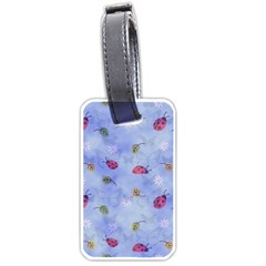 Ladybug Blue Nature Luggage Tags (One Side)