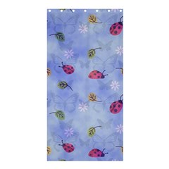 Ladybug Blue Nature Shower Curtain 36  x 72  (Stall)