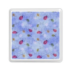 Ladybug Blue Nature Memory Card Reader (Square)