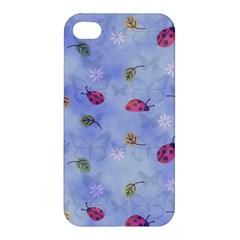Ladybug Blue Nature Apple iPhone 4/4S Premium Hardshell Case