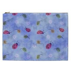 Ladybug Blue Nature Cosmetic Bag (xxl)