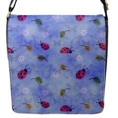 Ladybug Blue Nature Flap Messenger Bag (S)