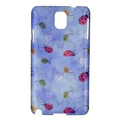 Ladybug Blue Nature Samsung Galaxy Note 3 N9005 Hardshell Case