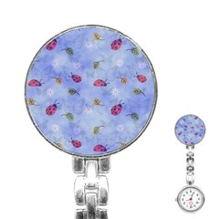 Ladybug Blue Nature Stainless Steel Nurses Watch