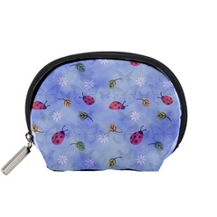 Ladybug Blue Nature Accessory Pouches (Small)