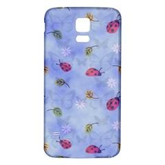 Ladybug Blue Nature Samsung Galaxy S5 Back Case (White)