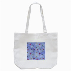 Ladybug Blue Nature Tote Bag (White)