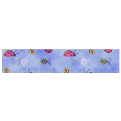 Ladybug Blue Nature Flano Scarf (small)