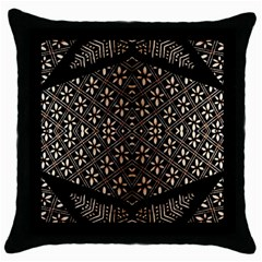 Art Background Fabric Throw Pillow Case (Black)