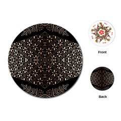 Art Background Fabric Playing Cards (Round)