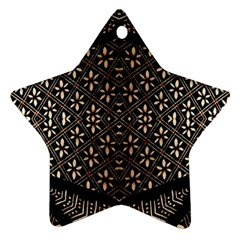 Art Background Fabric Star Ornament (Two Sides)