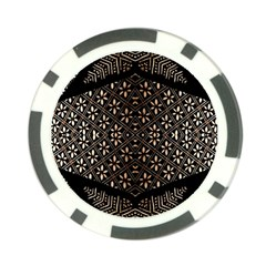 Art Background Fabric Poker Chip Card Guard