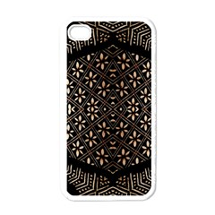 Art Background Fabric Apple iPhone 4 Case (White)