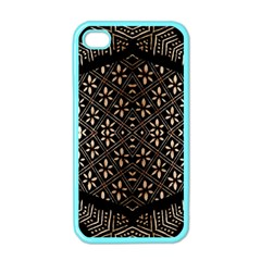Art Background Fabric Apple iPhone 4 Case (Color)