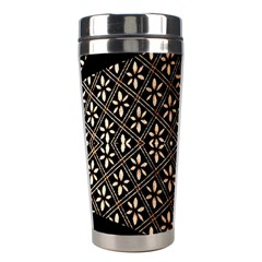 Art Background Fabric Stainless Steel Travel Tumblers
