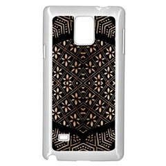 Art Background Fabric Samsung Galaxy Note 4 Case (white)
