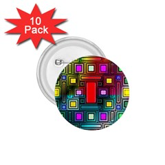 Art Rectangles Abstract Modern Art 1.75  Buttons (10 pack)