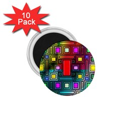 Art Rectangles Abstract Modern Art 1.75  Magnets (10 pack)