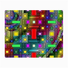 Art Rectangles Abstract Modern Art Small Glasses Cloth