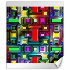 Art Rectangles Abstract Modern Art Canvas 20  x 24