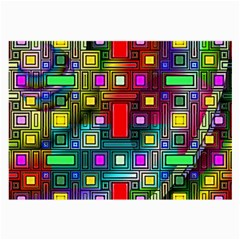 Art Rectangles Abstract Modern Art Large Glasses Cloth (2-Side)
