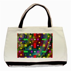 Art Rectangles Abstract Modern Art Basic Tote Bag (Two Sides)
