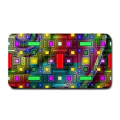Art Rectangles Abstract Modern Art Medium Bar Mats