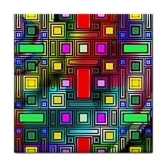 Art Rectangles Abstract Modern Art Face Towel