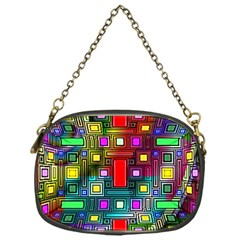 Art Rectangles Abstract Modern Art Chain Purses (One Side)