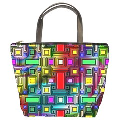 Art Rectangles Abstract Modern Art Bucket Bags