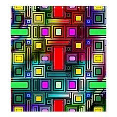 Art Rectangles Abstract Modern Art Shower Curtain 66  x 72  (Large)